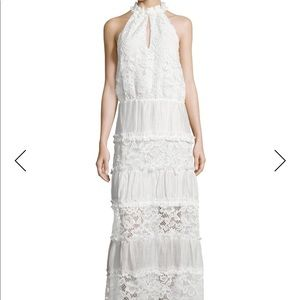 Alexis Benette sleeveless tiered lace maxi dress